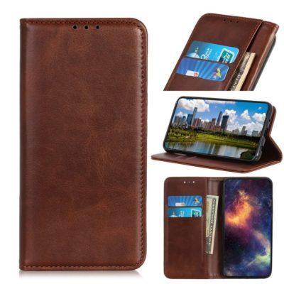 Samsung Galaxy A40 Kannellinen Kotelo Tummanruskea
