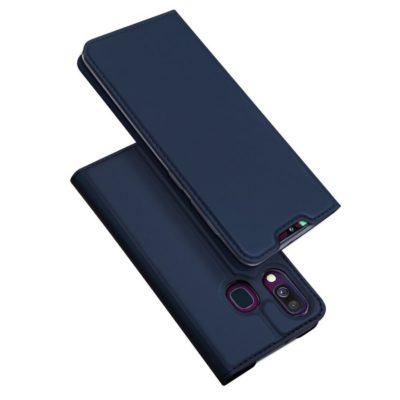 Samsung Galaxy A40 Kotelo Dux Ducis Tummansininen