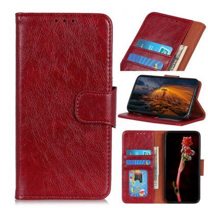 Samsung Galaxy A40 Suojakotelo Punainen Nahka