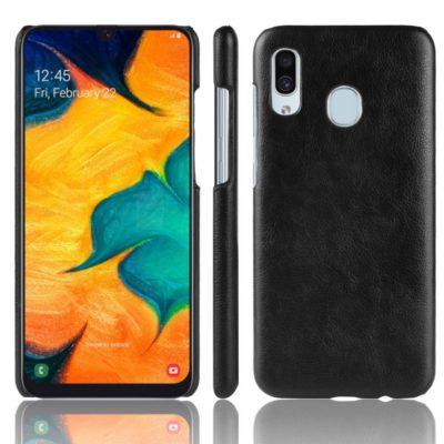 Samsung Galaxy A40 Suojakuori PU-Nahka Musta
