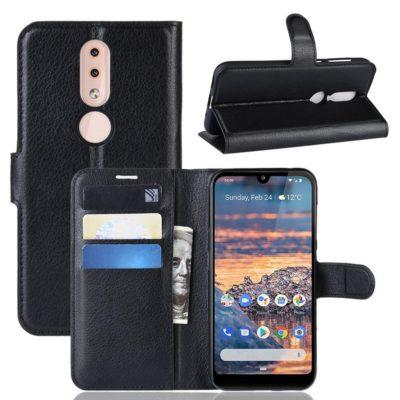 Nokia 4.2 Suojakotelo PU-Nahka Musta