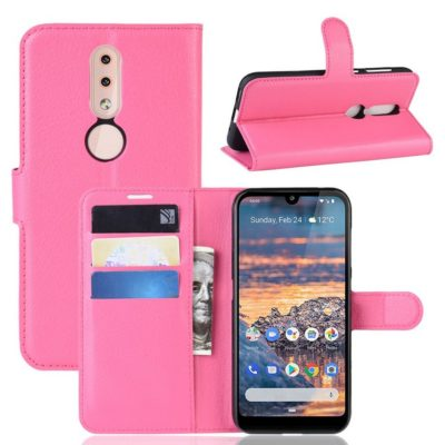 Nokia 4.2 Suojakotelo PU-Nahka Pinkki