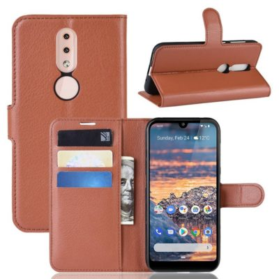 Nokia 4.2 Suojakotelo PU-Nahka Ruskea