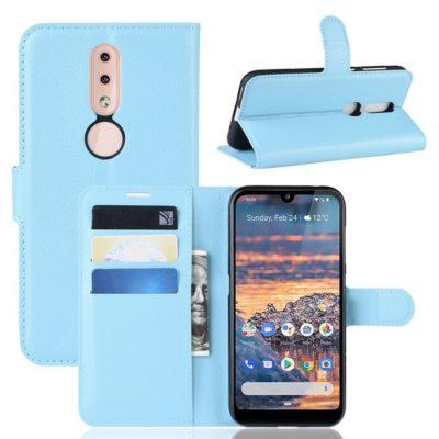 Nokia 4.2 Suojakotelo PU-Nahka Sininen