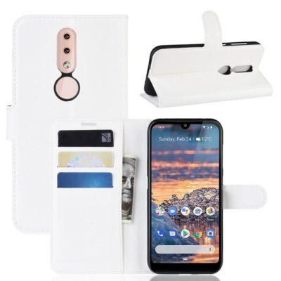 Nokia 4.2 Suojakotelo PU-Nahka Valkoinen