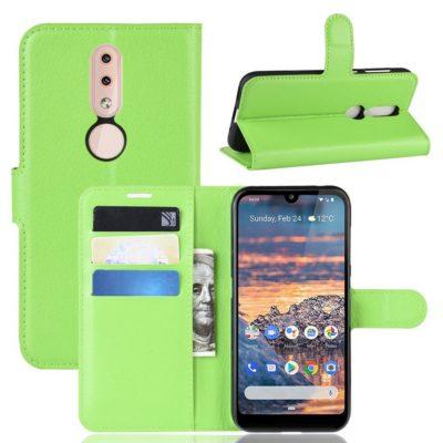 Nokia 4.2 Suojakotelo PU-Nahka Vihreä