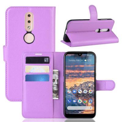 Nokia 4.2 Suojakotelo PU-Nahka Violetti