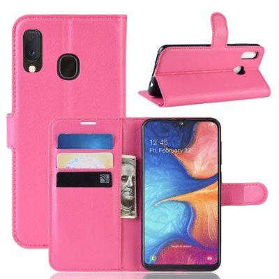 Samsung Galaxy A20e Kotelo PU-Nahka Pinkki