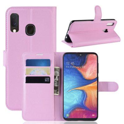 Samsung Galaxy A20e Kotelo PU-Nahka Vaaleanpunainen