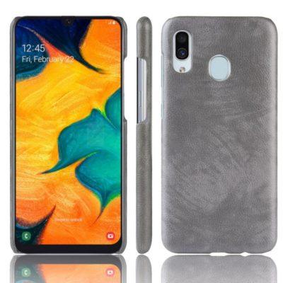 Samsung Galaxy A20e Suojakuori PU-Nahka Harmaa