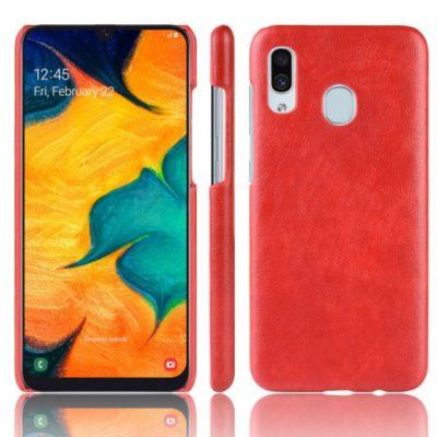 Samsung Galaxy A20e Suojakuori PU-Nahka Punainen
