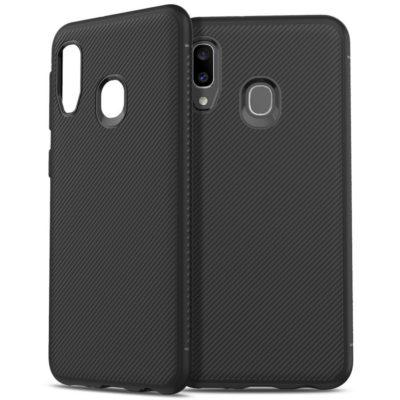 Samsung Galaxy A20e Suojakuori Silikoni Musta