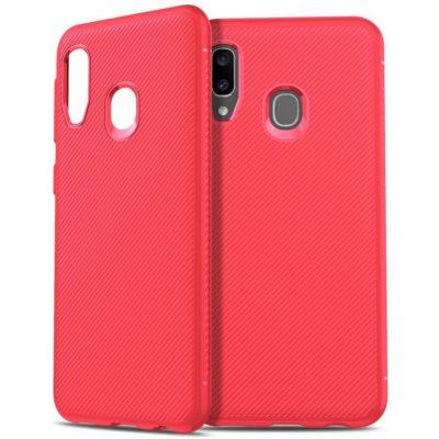 Samsung Galaxy A20e Suojakuori Silikoni Punainen