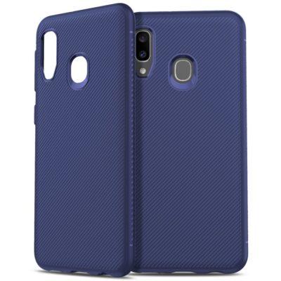 Samsung Galaxy A20e Suojakuori Silikoni Sininen