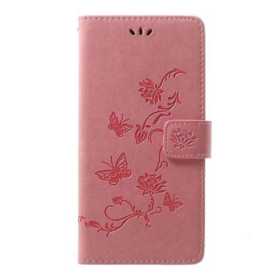 Samsung Galaxy A70 Kotelo Kukka Vaaleanpunainen