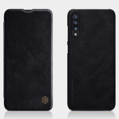 Samsung Galaxy A70 Kotelo Nillkin Qin Musta