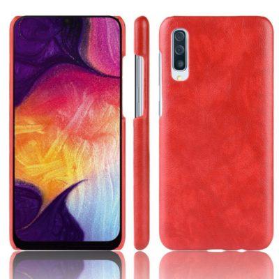 Samsung Galaxy A70 Suojakuori PU-Nahka Punainen