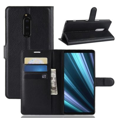 Sony Xperia 1 Suojakotelo PU-Nahka Musta