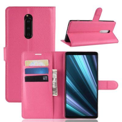 Sony Xperia 1 Suojakotelo PU-Nahka Pinkki