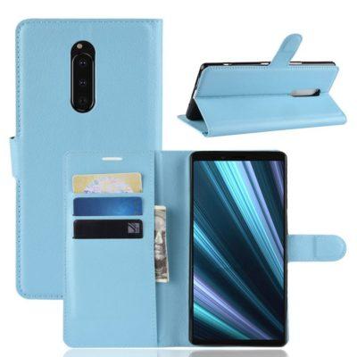 Sony Xperia 1 Suojakotelo PU-Nahka Sininen