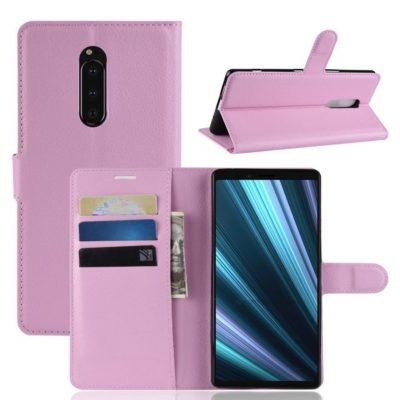 Sony Xperia 1 Suojakotelo PU-Nahka Vaaleanpunainen