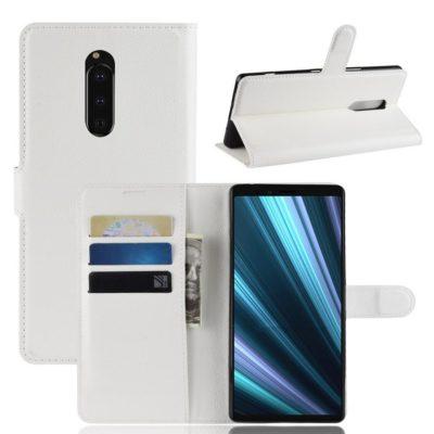 Sony Xperia 1 Suojakotelo PU-Nahka Valkoinen