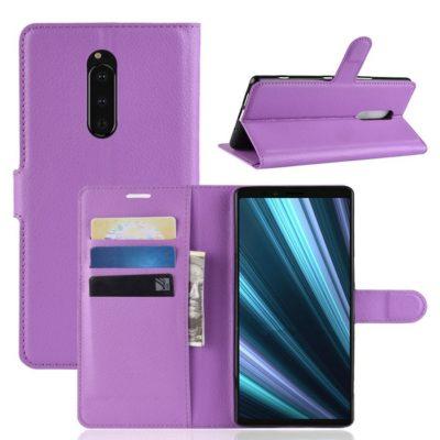 Sony Xperia 1 Suojakotelo PU-Nahka Violetti