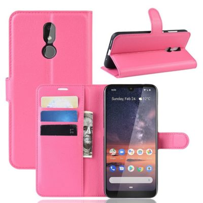 Nokia 3.2 Lompakkokotelo PU-Nahka Pinkki