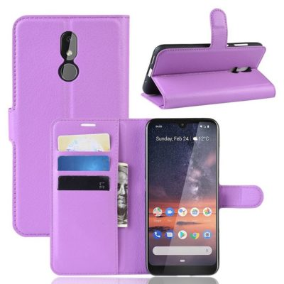 Nokia 3.2 Lompakkokotelo PU-Nahka Violetti