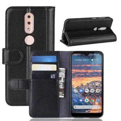 Nokia 4.2 Lompakkokotelo Musta Nahka