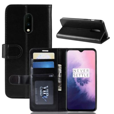 OnePlus 7 Suojakotelo Musta Lompakko
