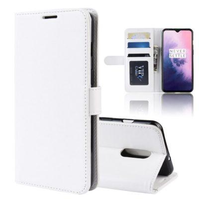 OnePlus 7 Suojakotelo Valkoinen Lompakko