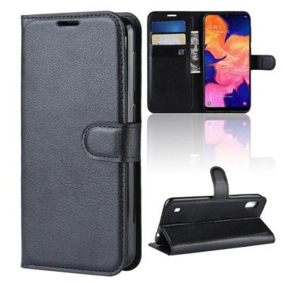 Samsung Galaxy A10 Suojakotelo PU-Nahka Musta
