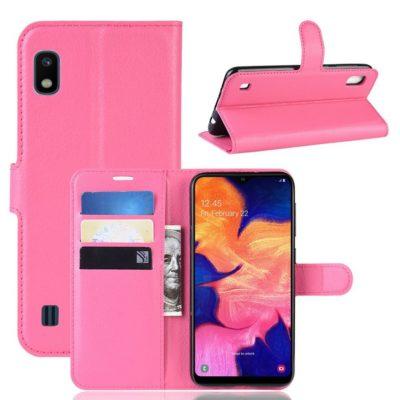 Samsung Galaxy A10 Suojakotelo PU-Nahka Pinkki