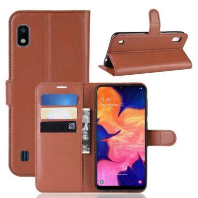 Samsung Galaxy A10 Suojakotelo PU-Nahka Ruskea