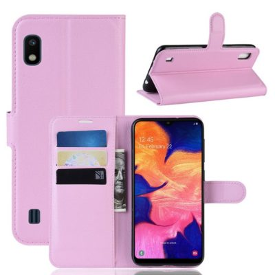 Samsung Galaxy A10 Suojakotelo PU-Nahka Vaaleanpunainen
