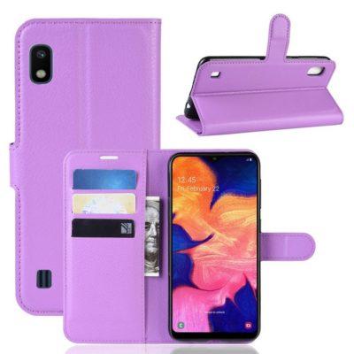 Samsung Galaxy A10 Suojakotelo PU-Nahka Violetti
