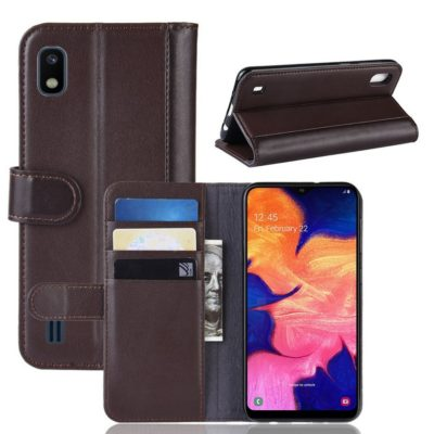 Samsung Galaxy A10 Suojakotelo Ruskea Nahka