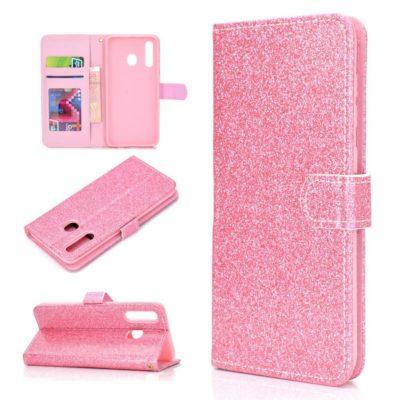Samsung Galaxy A20e Kotelo Glitter Pinkki
