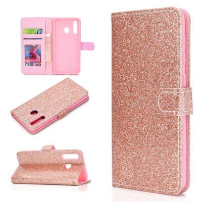 Samsung Galaxy A20e Kotelo Glitter Ruusukulta
