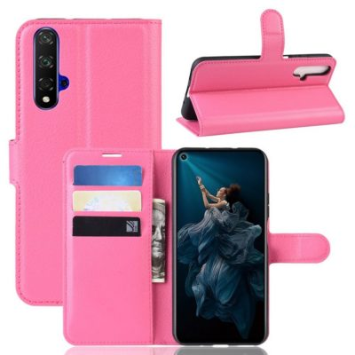 Huawei Honor 20 Suojakotelo PU-Nahka Pinkki