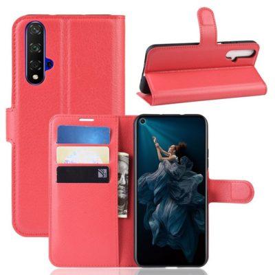Huawei Honor 20 Suojakotelo PU-Nahka Punainen