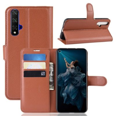 Huawei Honor 20 Suojakotelo PU-Nahka Ruskea