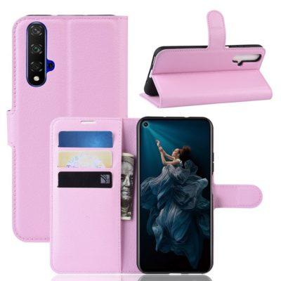 Huawei Honor 20 Suojakotelo PU-Nahka Vaaleanpunainen