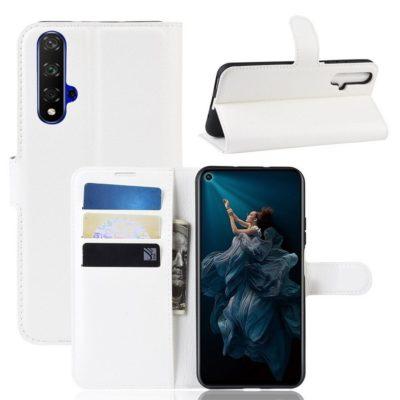 Huawei Honor 20 Suojakotelo PU-Nahka Valkoinen