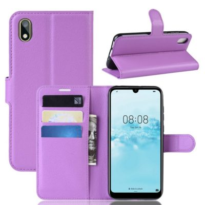 Huawei Honor 8S Kotelo PU-Nahka Violetti
