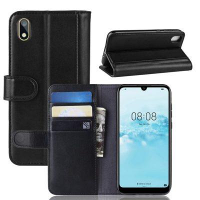 Huawei Honor 8S Suojakotelo Musta Nahka