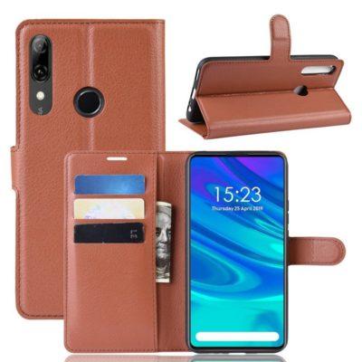 Huawei P Smart Z Kotelo PU-Nahka Ruskea