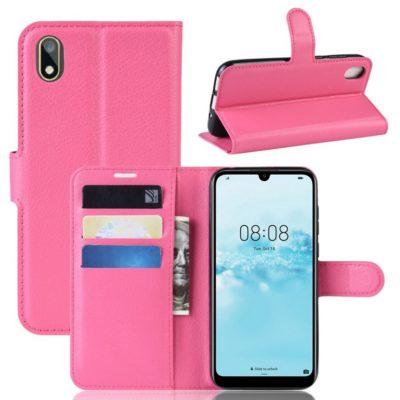 Huawei Y5 (2019) Suojakotelo PU-Nahka Pinkki