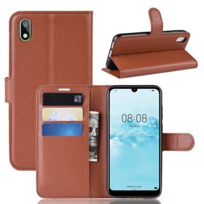 Huawei Y5 (2019) Suojakotelo PU-Nahka Ruskea